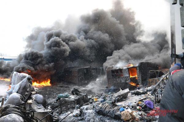 На Грушевского все пропиталось неприятным запахом от дыма