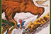 Фрагмент афишы к играм в Шамони 1924 года.