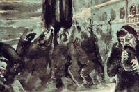 Репродукция картины Александра Блэка «Очередь за хлебом, на выставке, посвященной блокаде Ленинграда, в Государственном музее современной истории России, 2002 год.