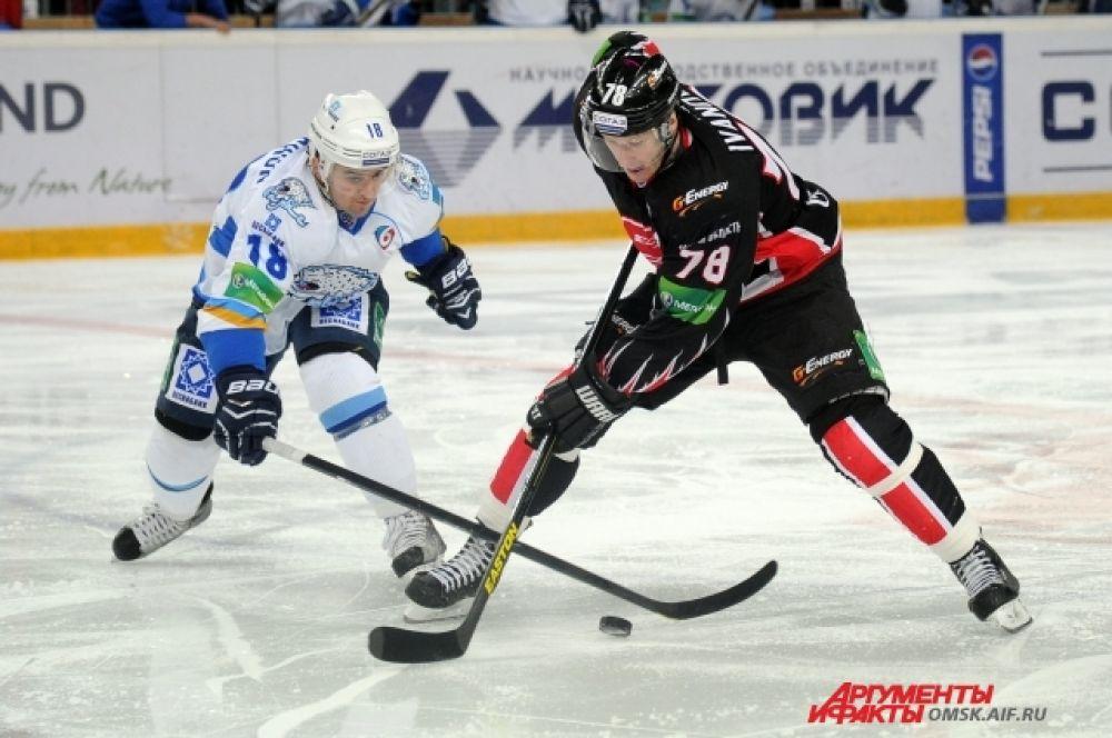 Авангард» проиграл «Барысу» из Казахстана со счётом 4:5 в овертайме.