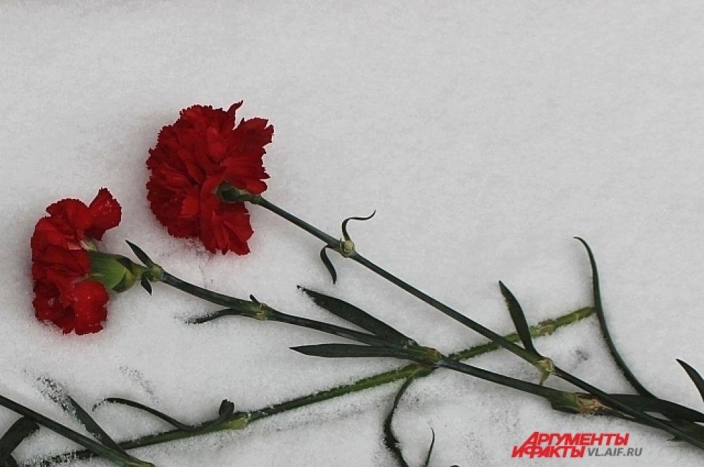 Цветы в память о павших.