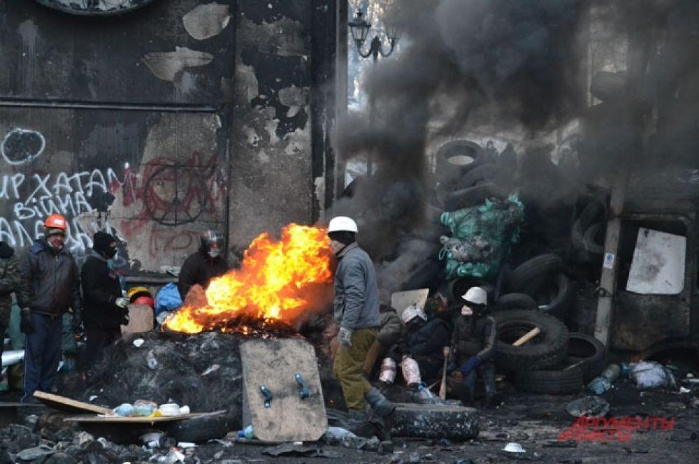 Дымовая завеса на Грушевского