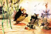 Иллюстрация Аминадава Каневского к сказке Михаила Салтыкова-Щедрина «Карась-идеалист».
