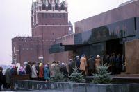 Очередь в Мавзолей Ленина на Красной площади.
