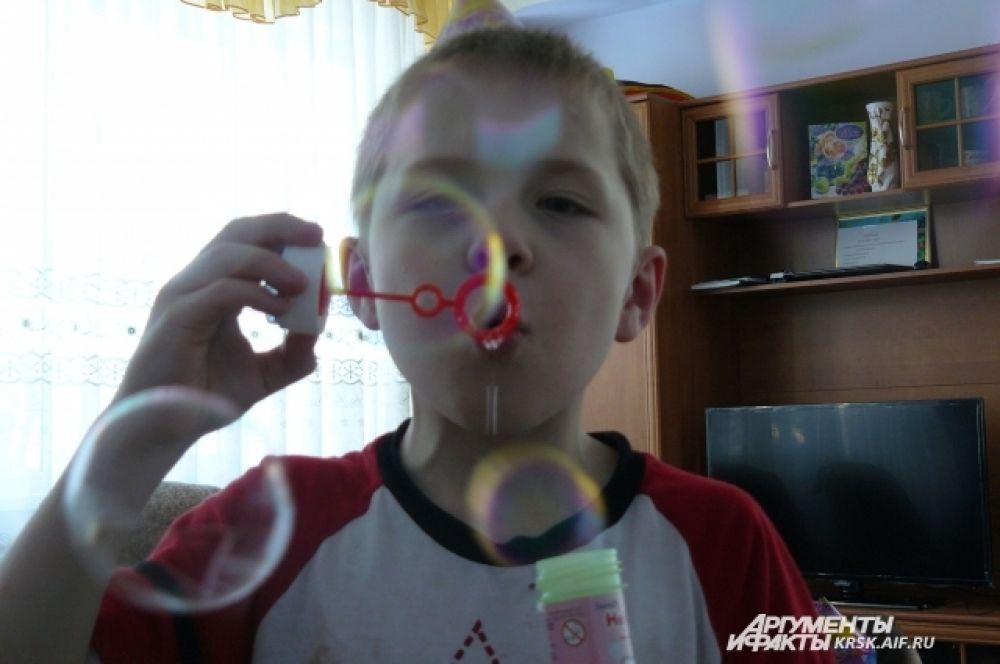 Пузыри помогали создать беззаботное настроение!