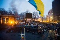 Лагерь антиправительственных демонстраций в Киеве.