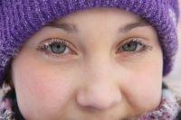 В Иркутске порой наступают такие морозы, что мерзнут глаза.