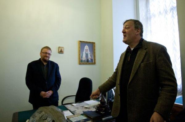 С Милоновым встретился известный британский актер Стивен Фрай, не скрывающий своей нетрадиционной сексуальной ориентации