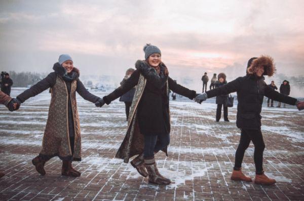 Ёхор – это традиционный бурятский танец-хоровод.