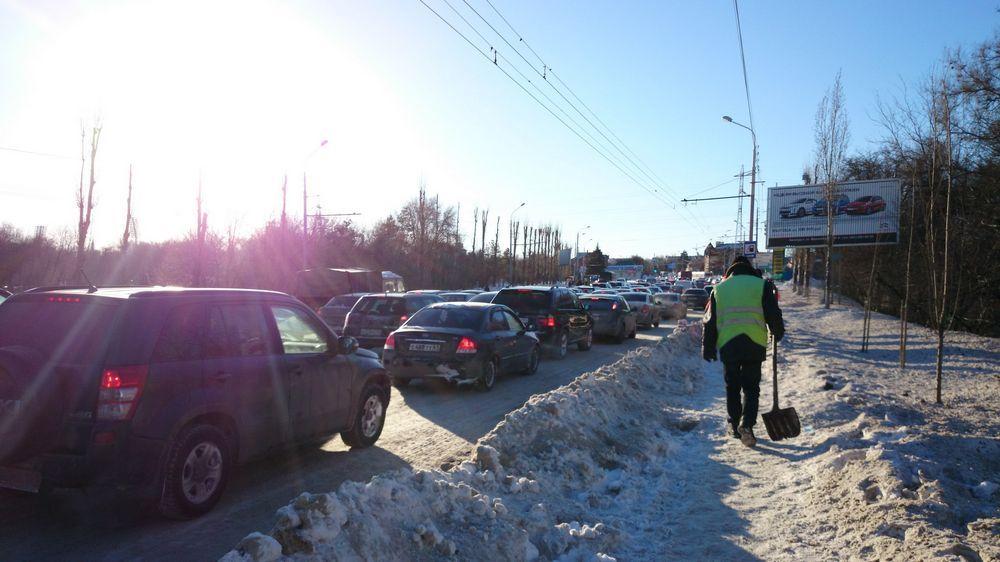 Ростов превратился в одну сплошную пробку