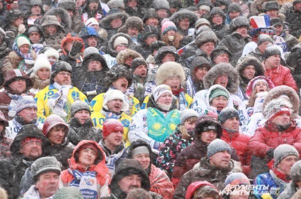 Болелщьиков команды Казахстана снегом не напугаешь.