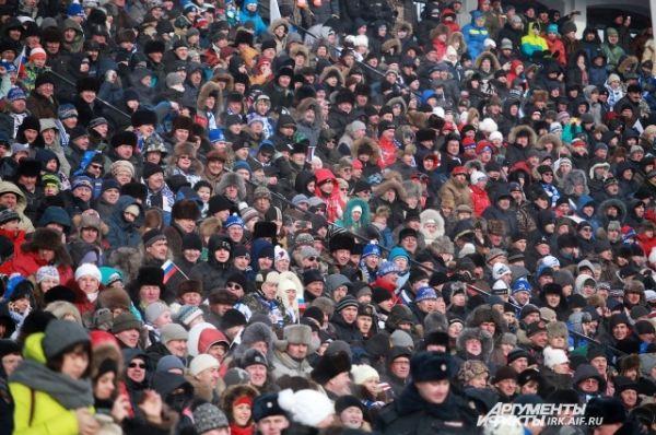 Более 15 тысяч человек можно было наблюдать на самых зрелищных матчах.