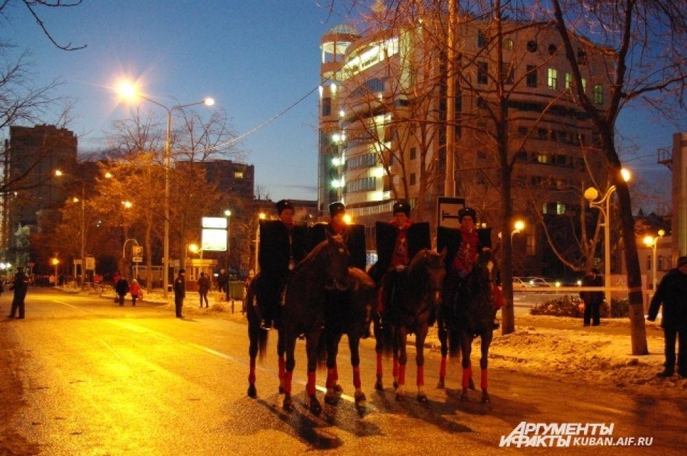 Конный эскорт Почетного караула Кубанского казачьего войска