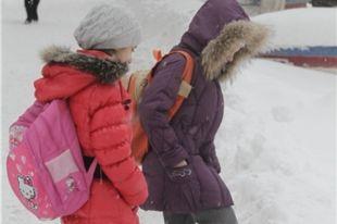 Занятия во вторую смену в школах Челябинска отменены из-за морозов