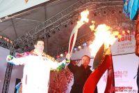 Церемония зажжения Чаши, подаренной городу «Ингосстрахом», стала кульминацией Эстафеты Олимпийского огня в Иркутской области