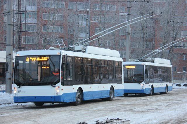 Новые троллейбусы не только красивые, но и удобные.