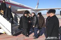 Ким Ён Нам и Владимир Миклушевский в аэропорту Владивостока.