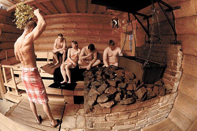 Ауфгусс березовым веником в банном комплексе города Айбеншток