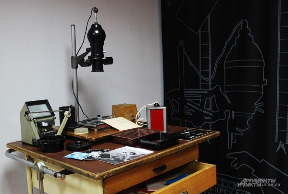 В одном из залов музея появилась лаборатория фотографа XX века.