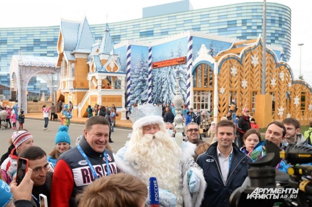 6 февраля, открылась сочинская резиденция Российского Деда Мороза из Великого Устюга. Ежедневно с 10.00 до 19.30 она будет принимать гостей олимпийской столицы. Ради этого события была проведена целая новогодняя церемония.