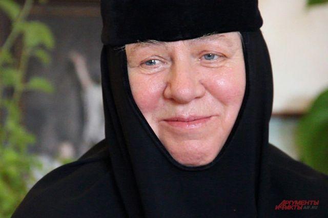 Игуменья Сергия — настоятельница монастыря.