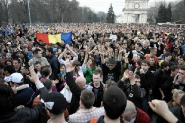 Акции протеста в Молдавии.