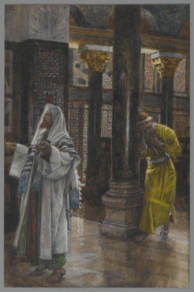 Мытарь олицетворяет кающегося грешника, а фарисей – человека, внешне соблюдающего благочестие, гордящегося этим и не видящего своих грехов. Фарисеи были представителями общественно-религиозного течения в Иудее во II веке до Р.Х. - II веке по Р.Х. Они считали себя мудрыми и знающими. Но мудрость, сходящая свыше, во-первых, чиста, потом мирна, скромна, послушлива, полна милосердия и добрых плодов, беспристрастна и нелицемерна. Плод же правды в мире сеется у тех, которые хранят мир (Иак. 3: 17-18).