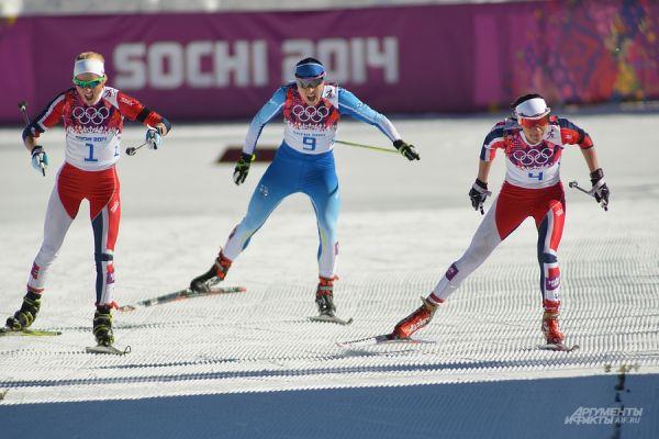 В первый соревновательный день я отправился на осмотр горного кластера Олимпийских игр. Там был женский скиатлон и мужской биатлон.