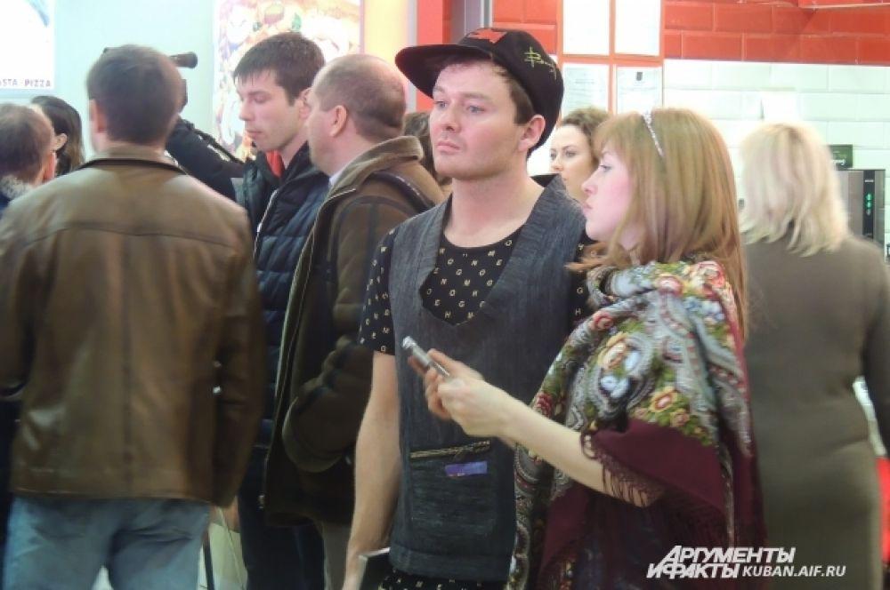 Зрители тоже оделись стильно