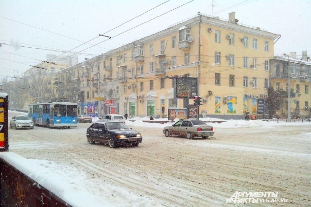 На дорогах Волгограда относительно чисто