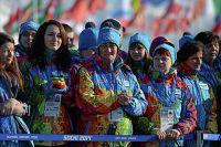 Волонтёры в Олимпийской деревне в Сочи.