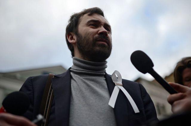 Депутат Государственной Думы РФ Илья Пономарёв на митинге оппозиции на Болотной площади в Москве.