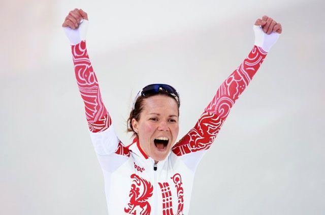 Ольга Граф после финиша.