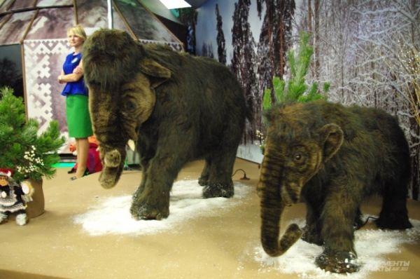 В Якутии представили мамонтов