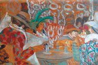 Фрагмент картины «В ресторане» художника Бориса Григорьева.