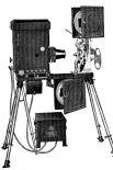 Томас Эдисон также является изобретателем кинетоскопа. В устройстве были реализованы принцип покадрового показа плёнки. При прокрутке со скоростью 15 кадров в секунду у зрителей возникало ощущение того, что объекты на изображении движутся.
