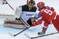 Александра Вафина забивает гол в ворота Японии