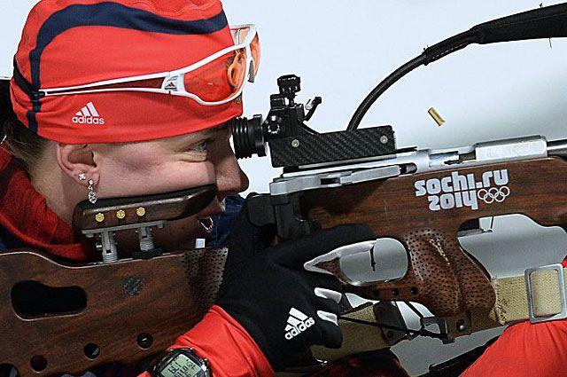 Ольга Вилухина стала лучшей среди россиян в гонке биатлонисток на Олимпиаде