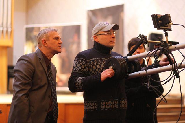 На съёмках «Мутации» в Ульяновске.
