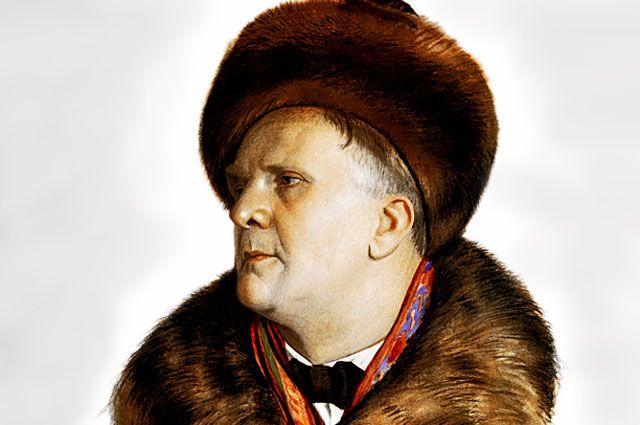 Портрет Федора Шаляпина работы Бориса Кустодиева. 1921 год.