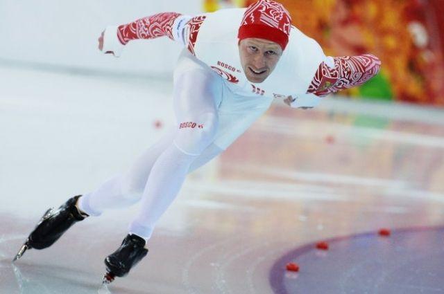 Игорь Боголюбский на дистанции в забеге на 1000 метров в Сочи