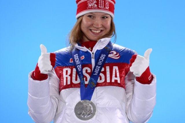 Ольга Фаткулина, завоевавшая серебряную медаль на XXII зимних Олимпийских играх