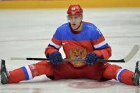 Евгений Малкин на разминке перед матчем Россия - Словения на Олимпиаде