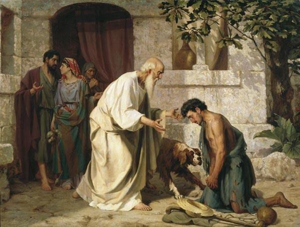 В это воскресенье – Неделю о блудном сыне - и два последующих воскресенья на Всенощной поется 136-й псалом «На реках Вавилонских», который описывает страдания евреев в Вавилонском плену и их скорбь о родной земле.