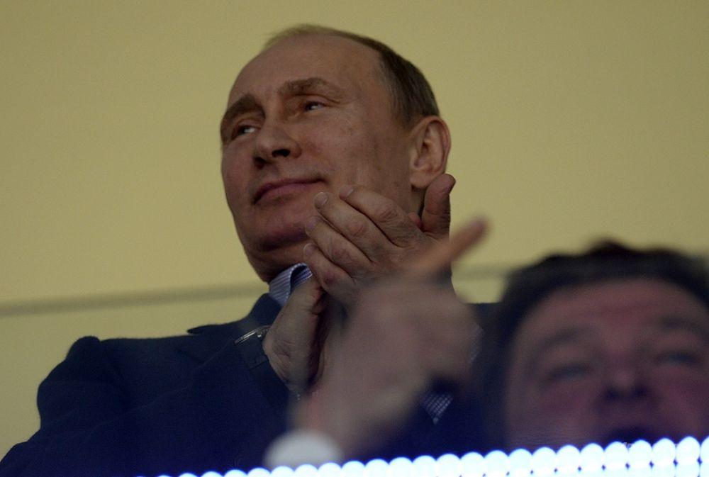 Матч против сборной США посетил президент РФ Владимир Путин.