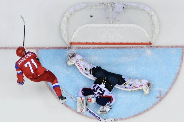 Мужская хоккейная сборная России обыграла сборную Словакии по буллитам