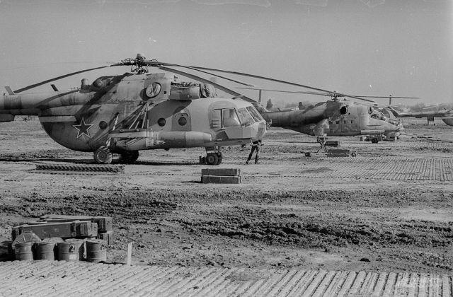 Вертолёты ограниченного контингента в Афганистане.