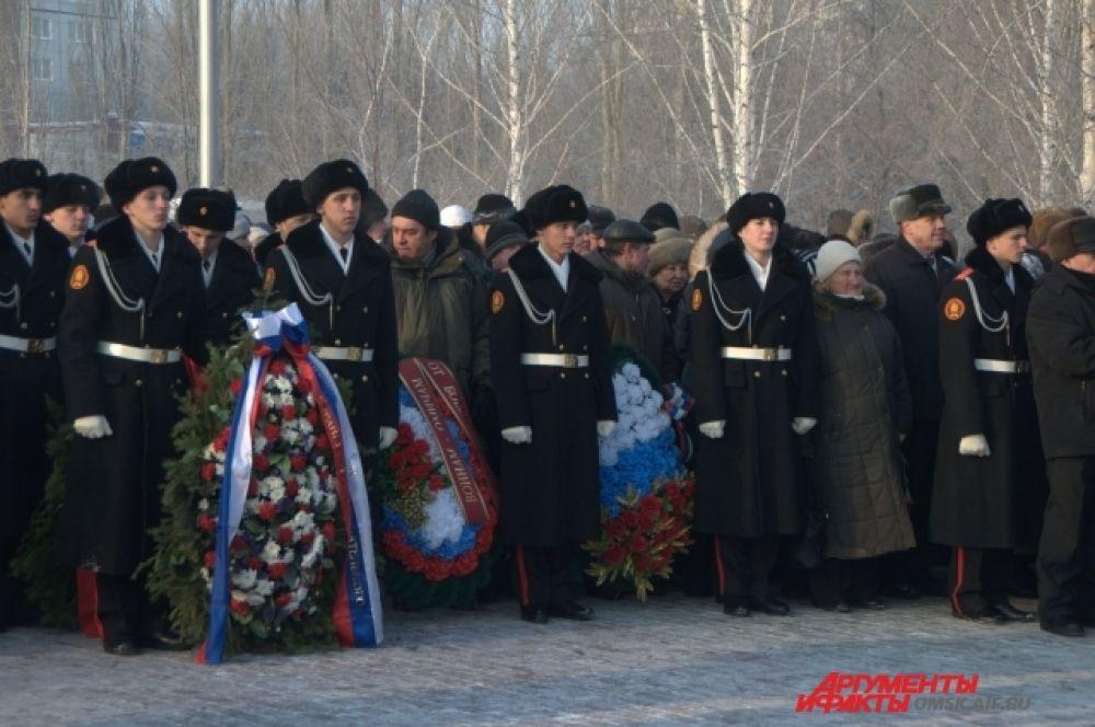 Омичи почтили память воинов, погибших в Афганистане.