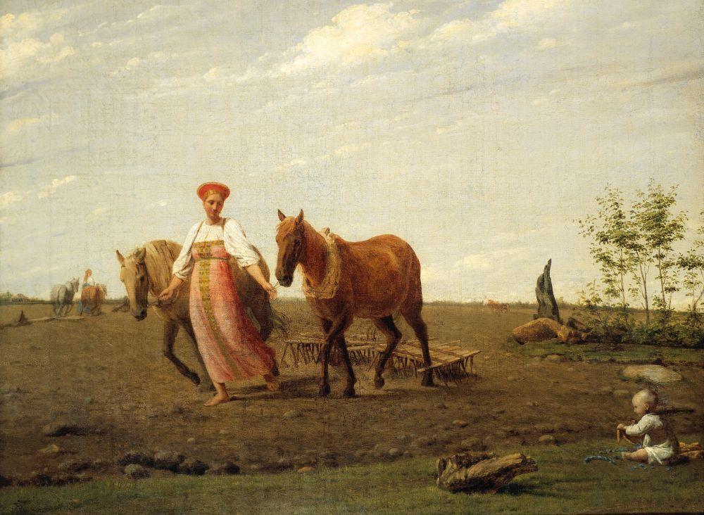 Венецианова вдохновляли именно крестьянские сценки. В них он видел возможность для самовыражения, поскольку мог передавать сюжеты искреннее, такими как сам их осознавал, в то время как полотна с участием истеблишмента ставили художника в рамки традиций.