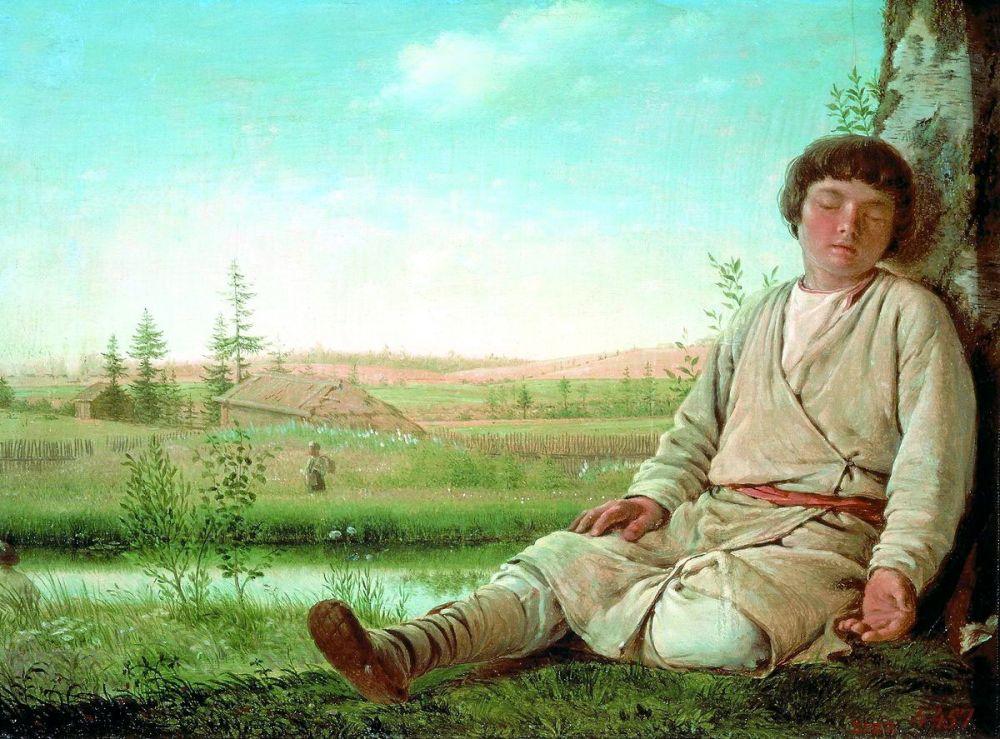 «Он много произвёл прекраснейших вещей сухими красками. Его произведения нравятся верностью и приятностью красок и чрезвычайной точностью исполнения света и тени», - писал про Венецианова в 1826 году историк Виктор Григорович.